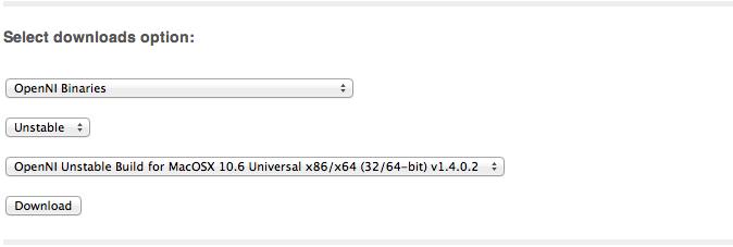 Develop Kinect - Mac OS X