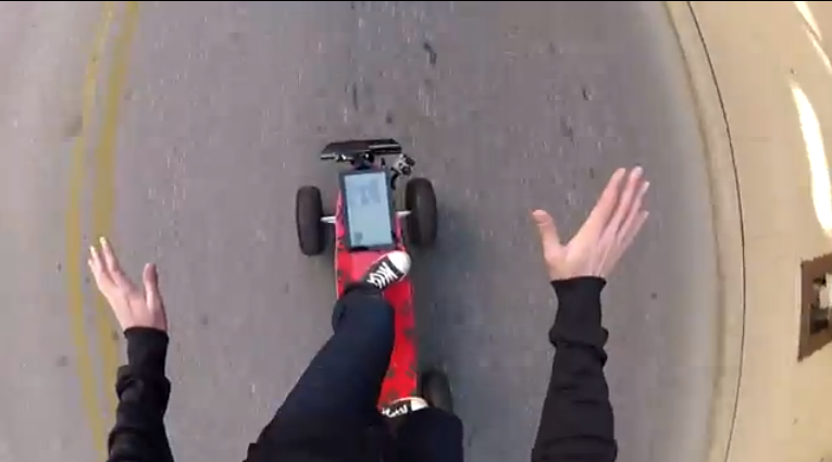 Board of Awesomeness - Kinect Controlled Gesture Based All-Terrain Skateboard