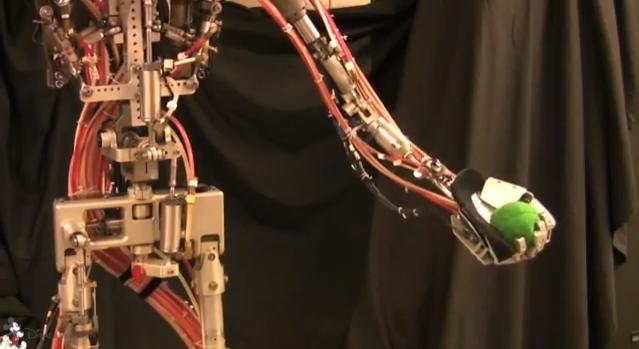 Juggling With a Animatronic Humanoid Robot