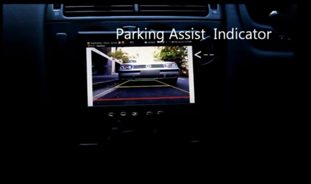 Reverse Parking Aid Using libfreenect and OpenCV