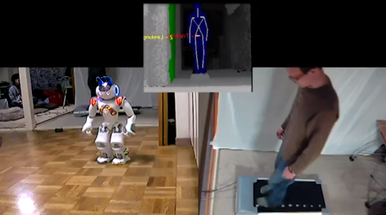 Robotic Teleoperation with Kinect and Treadmill