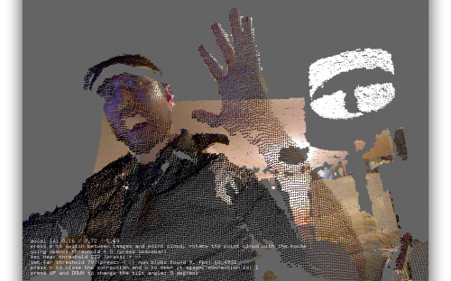 ofxKinect openFrameworks Point Cloud - OS X