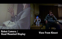 Experience the Viewing Perspective of Humanoid Robot with Head Movement