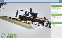 Kinect with Fabric Engine Integration in Web Browser